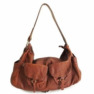 Lucky Brand Vintage Inspired Hobo Bag with Pockets